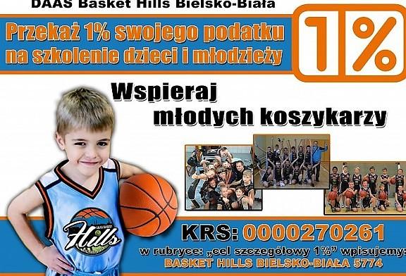 Wesprzyj 1% koszykówkę dzieci w Bielsku-Białej