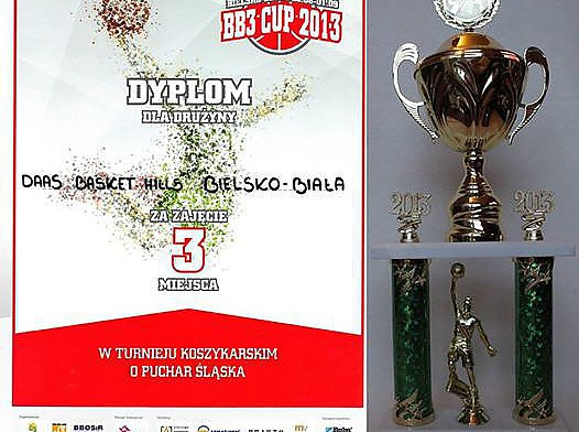 Zawodnicy DAAS Basket Hills Bielsko-Biała zajęli 3 miejsce w Pucharze Śląska 2013.