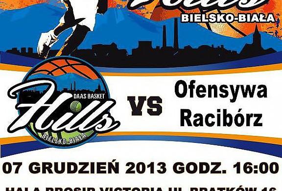 W 9 kolejce rozgrywek 3 ligi mężczyzn zespół DAAS Basket Hills Bielsko-Biała podejmować będzie na własnym parkiecie drugą drużynę z Raciborza.
