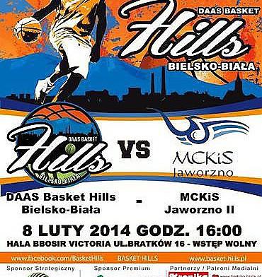 W sobotnie popołudnie koszykarze DAAS Basket Hills Bielsko-Biała podejmować będą ostatnią drużynę tabeli MCKiS Jaworzno II.