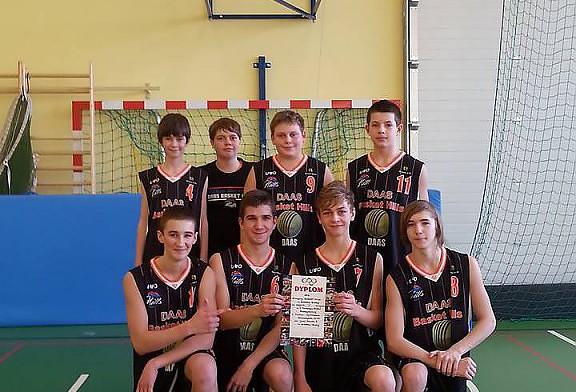 1 miejsce drużyny kadetów MU-16 DAAS Basket Hills Bielsko-Biała.