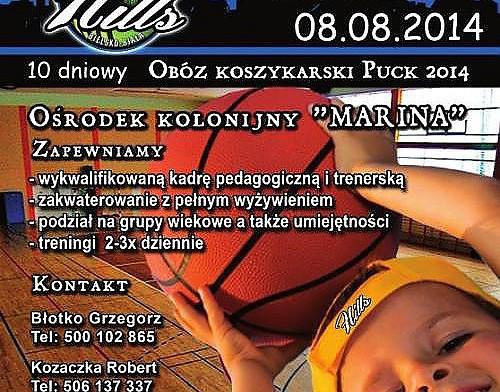 LETNI OBÓZ KOSZYKARSKI - DAAS Basket Hills CAMP PUCK 2014