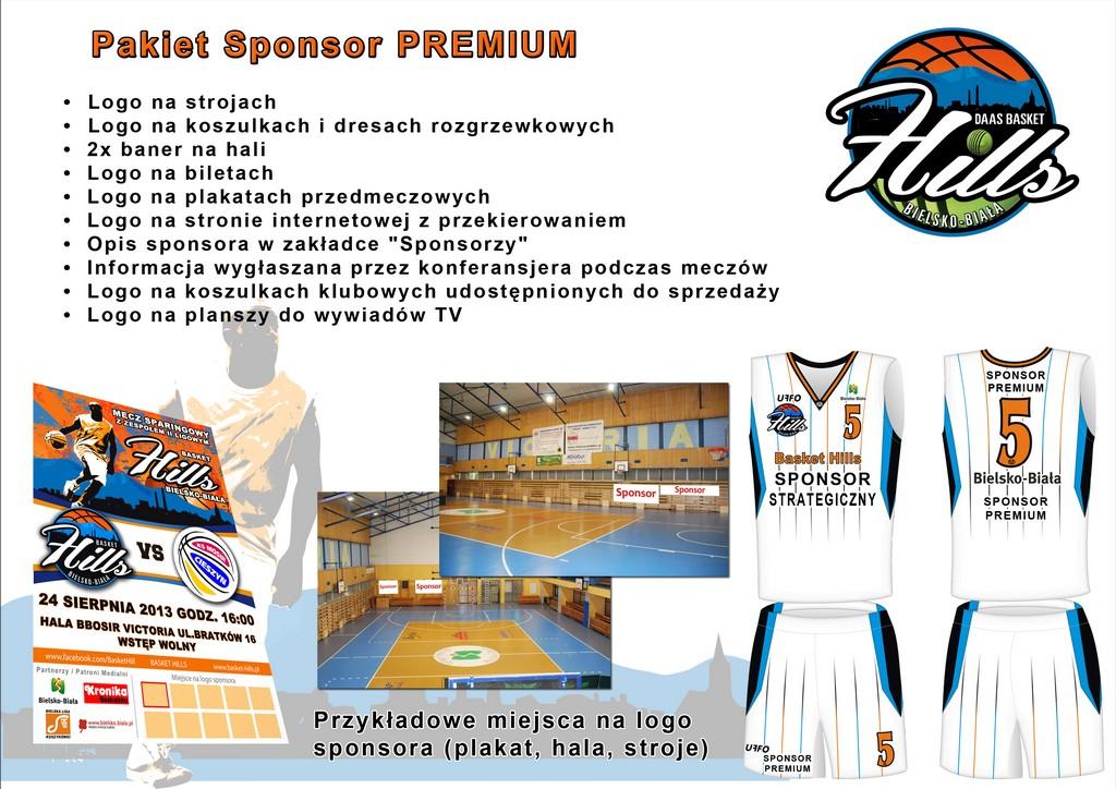 Pakiet Sponsor Premium Basket Hills