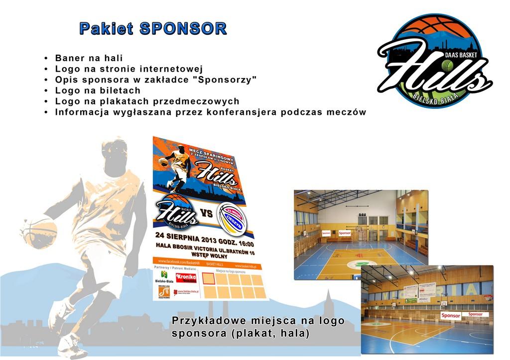 Pakiet Sponsor Basket Hills Bielsko-Biała